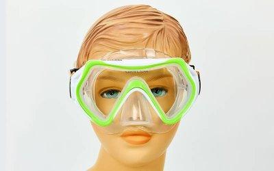 Набор для плавания детский маска с трубкой Zelart M169-SN69-SIL салатовый