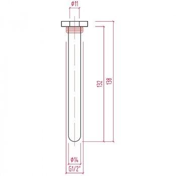 """Штуцер Icma 1/2"""" для виносного датчика термостатичної головки №212"""