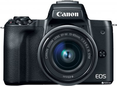 Фотоапарат Canon EOS M50 Kit 15-45 IS STM + EF-M 22 mm f/2 STM Black Офіційна гарантія! (2680C055AA)