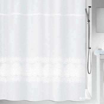 Шторка для ванної Spirella Broderie 180x200 Polyester Біла (10.20116)