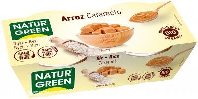 Органический растительный десерт NaturGreen из Риса с карамелью 2 х 125 г (8437007759716)