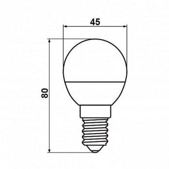 """Світлодіодна лампа Biom BT-566 """"матовий кулька"""" нейтральний світло 4500К 7 Вт G45 цоколь E14"""