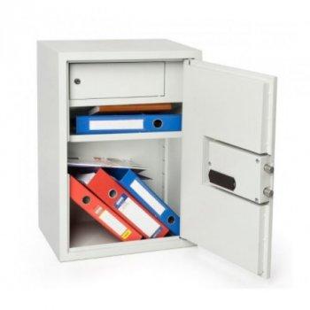 Шкаф металлический Ferocon, модель БЛ-65Е.Т1.П1.7035, из метала с электронный замок светло-серый (573901)