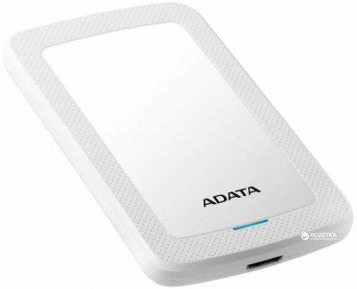 Жорсткий диск ADATA DashDrive HV300 1TB AHV300-1TU31-CWH 2.5 USB 3.1 External Slim White