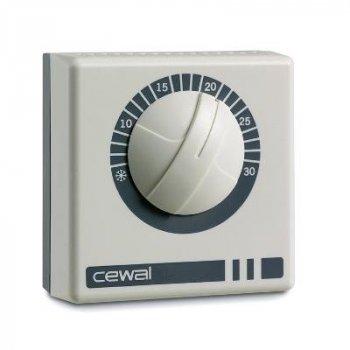 Терморегулятор Cewal RQ01 механічний кімнатний настінний термостат 16А