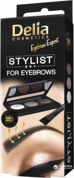 Набір для стилізації брів Delia cosmetics Eyebrow Expert Stilist set (віск, тіні, аплікатор) 100 г (5901350466575)