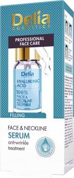 Сыворотка Delia cosmetics Hyaluronic Acid для лица шеи и декольте против морщин 10 мл (5906750852300)
