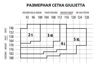 Колготки Giulietta Vita Bassa 40 Den Nero