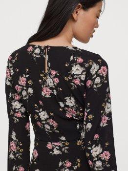 Плаття H&M 0781833-0 Чорне троянди