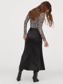 Спідниця джинсова H&M 0840027-1 Темно-сіра