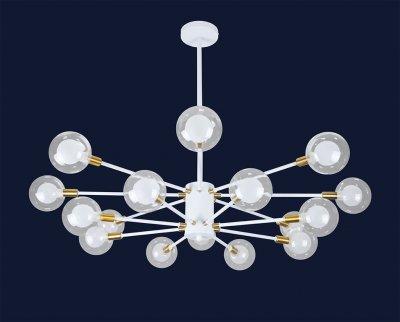 Люстра Лофт Молекула 16 Плафонів 160Вт Levistella 7526078-16 Wh Білий