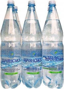 Упаковка минеральной лечебно-столовой газированной воды ECO Life Шаянская 1.5 л х 6 бутылок (4820001472264)