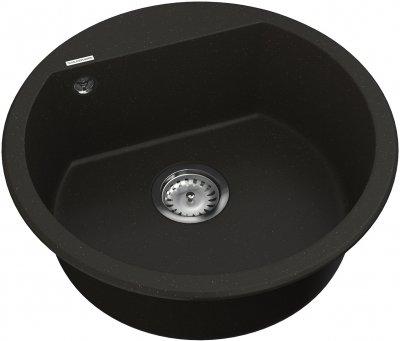 Кухонная мойка VANKOR Tera TMR 01.50 Black + сифон одинарный VANKOR Стандарт