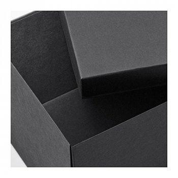 Коробка з кришкою IKEA TJENA 18x25x15 см чорний 603.954.85