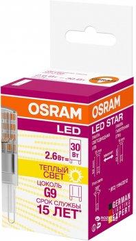 Светодиодная лампа Osram LED Star PIN30 2.6W (320Lm) 2700K 230V G9 (4058075056688)