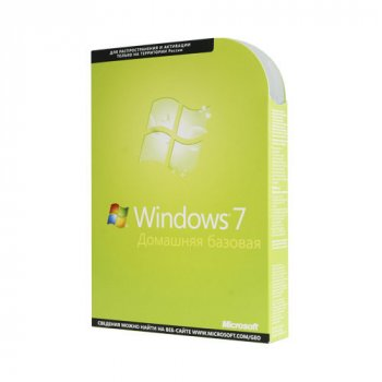 Операционная система Microsoft Windows 7 Home Basic 32-bit Russian DVD BOX (F2C-00545)
