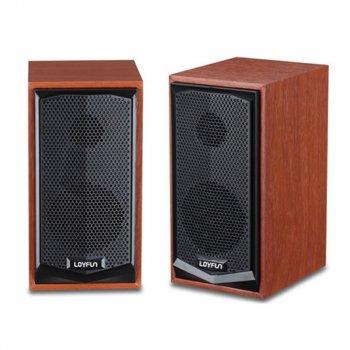 Колонки компьютерные Lenrue Model V2200 коричневый