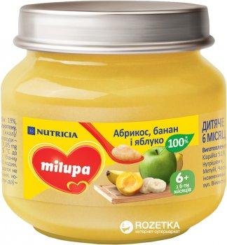 Фруктове пюре Milupa Абрикос, яблуко та банан з 6 місяців 100 г (8591119003492)