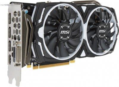 MSI PCI-Ex Radeon RX 570 ARMOR 8G GDDR5 (256bit) (1244/7000) (DVI, HDMI, 3 x DisplayPort) (Radeon RX 570 ARMOR 8G)