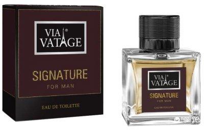 Туалетная вода для мужчин Via Vatage Signature 100 мл (5902734840806)