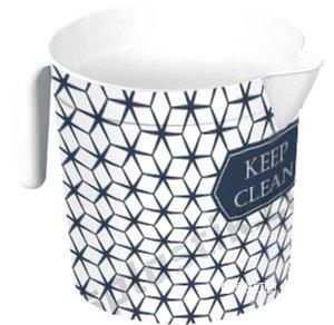 Кухоль-лійка Elif Plastik Принт 1.5 л 20х13.5х20 см Ромби (337-19-ромби)