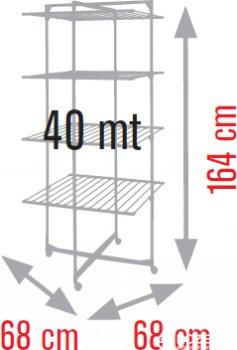 Сушарка для білизни Meliconi Lock Tower 4 40 м Темно-синя (70310604102)