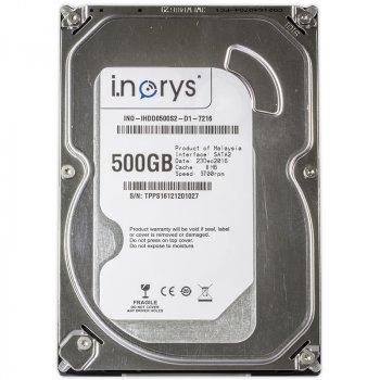 """Жорсткий диск i.norys 500Gb 5700rpm 8MB (INO-IHDD0500S2-D1-5708) 3.5"""" SATA II"""