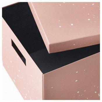 Коробка з кришкою IKEA TJENA 25x35x20 см рожева 404.038.15