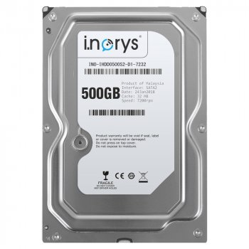 Жорсткий диск i.norys 500GB 7200rpm 32MB INO-IHDD0500S2-D1-7232 3.5 SATAII