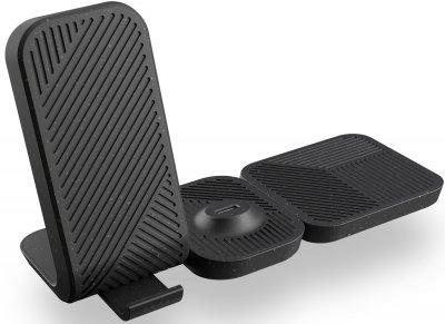 Беспроводное зарядное устройство Zens Modular Stand Wireless Charger with Wall Charger Black (ZEMSC2P/00)