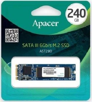Накопичувач SSD 240GB Apacer AST280 M. 2 SATAIII TLC (AP240GAST280-1)