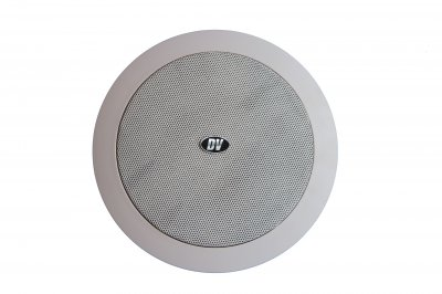 """Потолочный динамик с трансформатором DV audio 6""""+1,5"""" 20W белый (C-602)"""