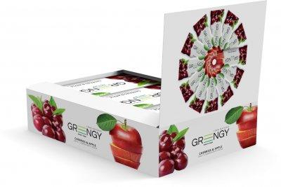 Упаковка батончиков Greengy Вишня и яблоко 12 шт х 26 г (4820221320567)