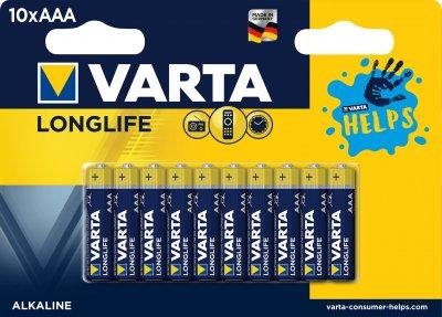 Батарейка Varta Longlife AAА BLI HELPS 10 шт (4103321461)