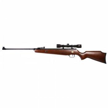 Пневматическая винтовка Beeman Grizzly X2 (чехол, прицел 4х32), 330 м/с, приклад - дерево (бук)