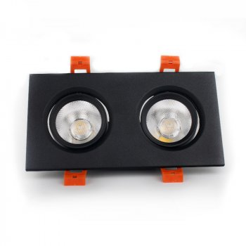 ElectroHouse LED світильник стельовий чорний подвійний 5W кут повороту 45° 4100К