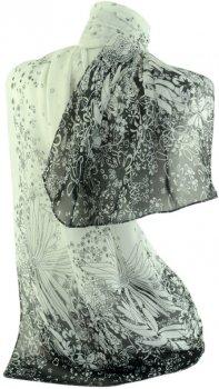 Шарф Trаum 2495-19 Белый с черным (4820002495194)
