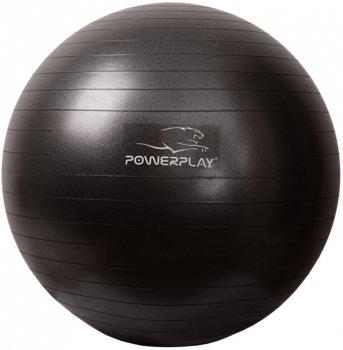 М'яч гімнастичний PowerPlay 4001 Black 65 см + насос (PP_4001_65_Black)