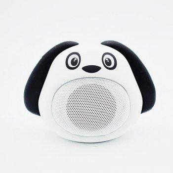 Портативна бездротова Bluetooth колонка у формі собачки iCutes MB-M818 NEW Біла