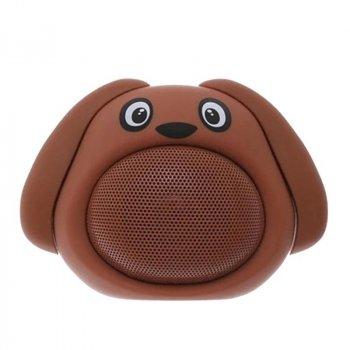 Портативна бездротова Bluetooth колонка у формі собачки iCutes MB-M818 NEW Коричнева