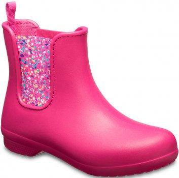 Резиновые сапоги Crocs Women's Freesail Chelsea Boot 204630-6PC Розовые