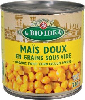 Кукуруза сладкая консервированная La Bio Idea органическая 340 г (8717496903907)