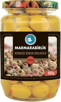 Оливки с перцем Marmarabirlik 2XS 400 г (8690103810013)