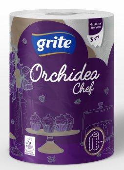 Паперові рушники Grite Orchidea Gold Chef 3 шари 230 відривів 1 рулон (4770023348385)