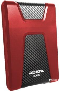 """Жорсткий диск ADATA DashDrive Durable HD650 1TB AHD650-1TU31-CRD 2.5"""" USB 3.1 External Red"""