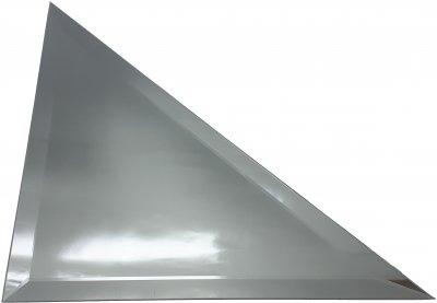 Зеркальная плитка UMT треугольная 450х450 мм фацет 15 мм серебро (ПТС 450-450)