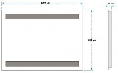 Зеркало UMT SLD 08 1000х700 мм LED (SLD 08 1000-700)