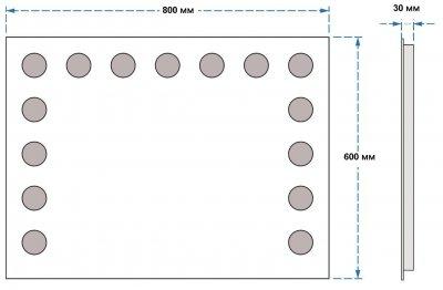 Зеркало UMT SLD 20 800х600 мм LED (SLD 20 800-600)