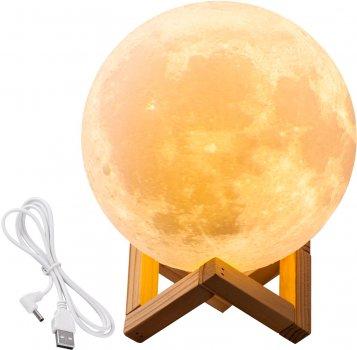 Настільний світильник UFT Magic 3D Moon Light Touch Control Місяць 15 см (uftlampmoon3d)