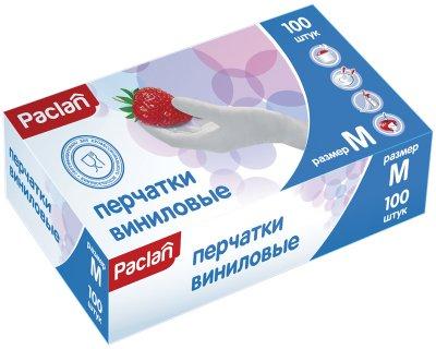 Перчатки виниловые Paclan M 100 шт (4610015980141)